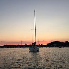 Sonnenuntergang am Eckernförder Hafen